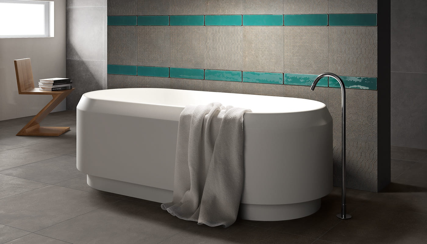 Karman bath blue concrete 3333