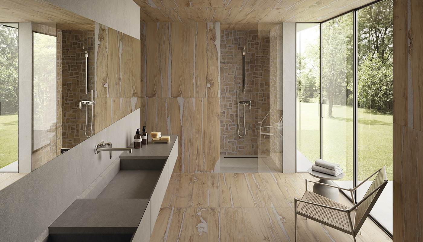 Alter bath natural wood 2231