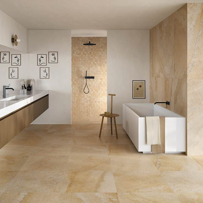 Stone - effect porcelain stoneware tiles: 50 shades of Cornestone 23